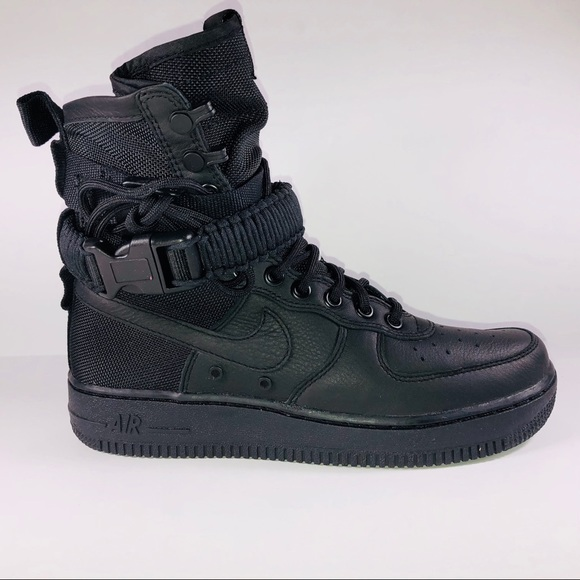 Womens Nike Special Field AF1 High Top Black Shoes a46189ab4e